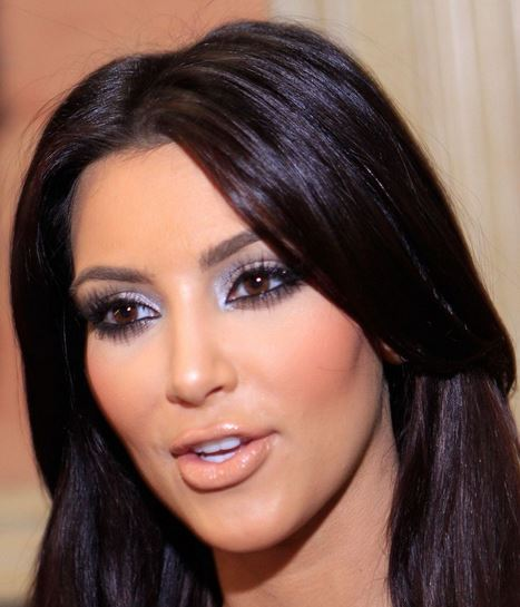 Kim Kardashian brown eyes