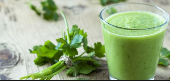 Parsely juice is a home remedy for freckles and dark spots