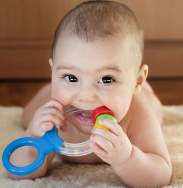 Teething babies can also get blood blisters on their tongues